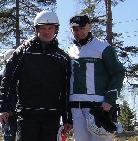 Ja mukana kisassa oli myös hyvä ystäväni, endurokuljettaja Marko Tarkkala. Maken hevosena tänään Karhen Kurvi.