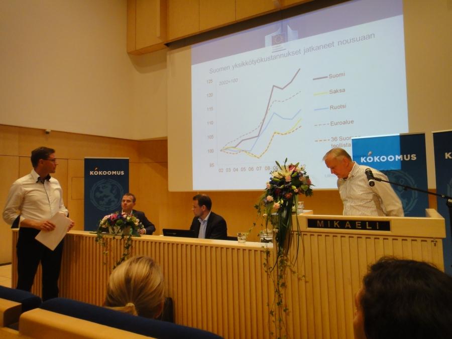 Kokoomuksen eduskuntaryhmän kesäkokouksen toinen päivä alkoi pääministerin Eurooppa-puheella ja sitten kokouksemme sai vieraaksi Euroopan komission varapuheenjohtajan Olli Rehnin.