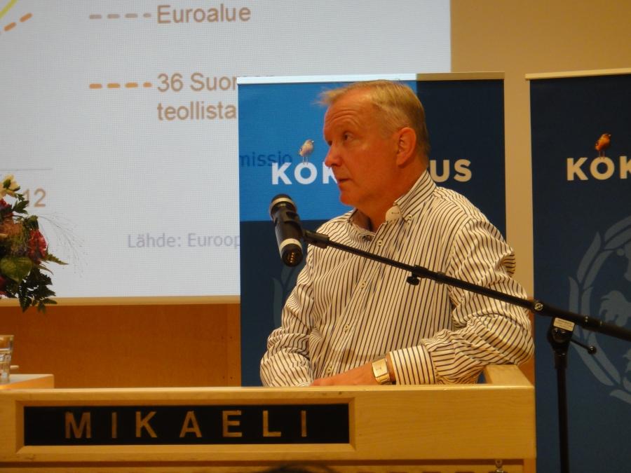 Rehn piti erinomaisen puheenvuoron Euroopasta ja taloudesta. Sitä itse jäin miettimään, että tokkopa hän kuitenkaan enää löytää omaa