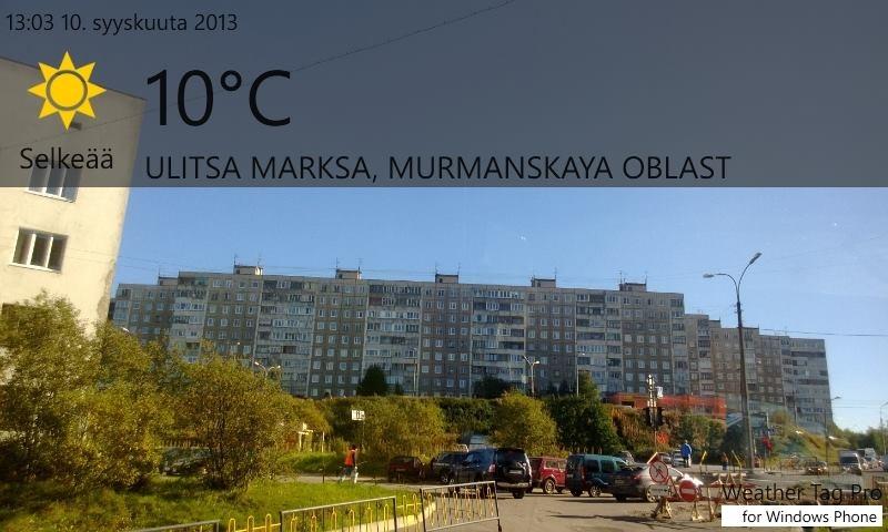Murmansk ja aurinko paistaa