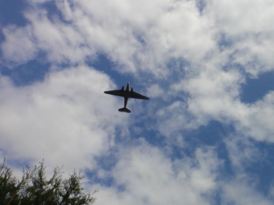 Ja upea oli myös DC3:n ylilento...