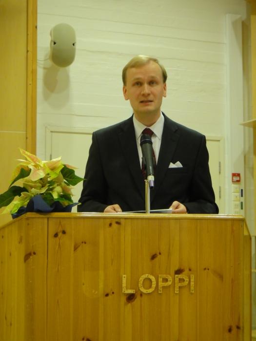 Ja juhlapuheen piti loppilaislähtöinen tekniikan tohtori Antti Lindqvist.