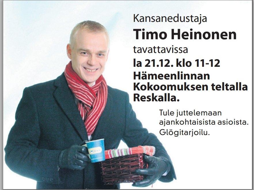 HUOMENNA! Lauantaina Hämeenlinnan Reskalla Jouluglögit! Nähdään siellä!