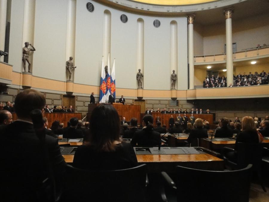 Tasavallan Presidentti Sauli Niinistö piti vahvan ja kantaaottavan puheenvuoron valtiopäivien avajaisisssa.