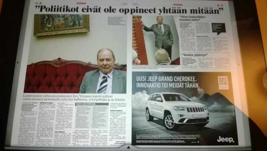 Eli aukeaman juttu Iltalehdessä...