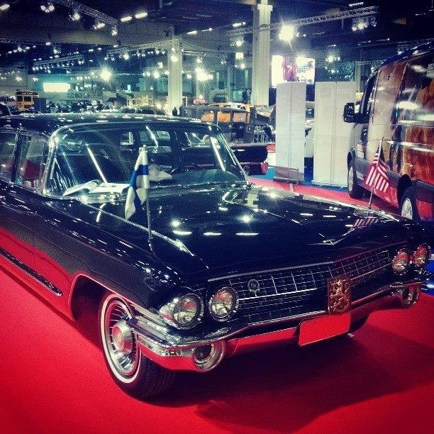 Ja yksi legenda on Presidentti Urho Kekkosen vanha Cadillac ja tämänkin siis tämän vuoden American Car Showssa.