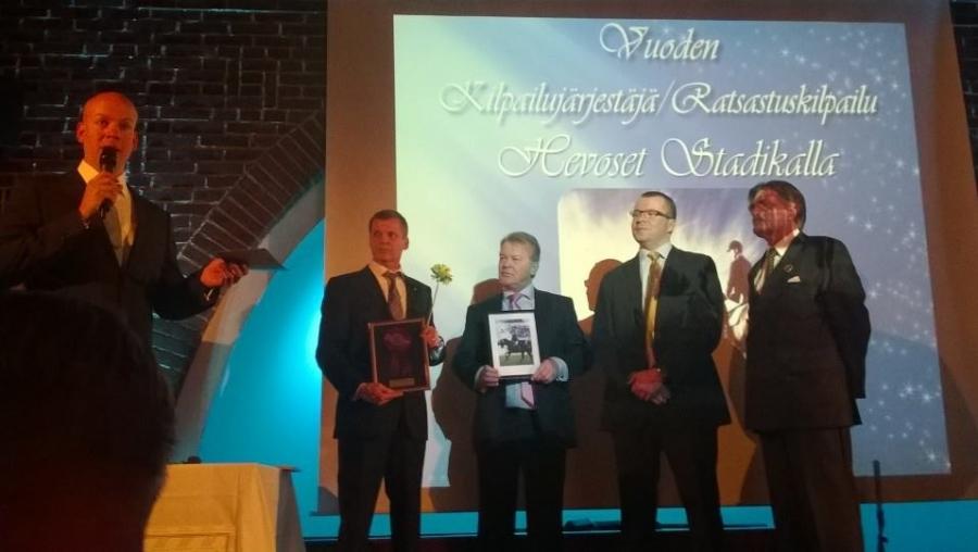 Vuoden Ratsastustapahtumana palkittiin Hevoset Stadikalla. Hevoset on Stadikalla jälleen 2015 toukokuussa.