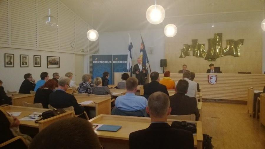 Ja ilta sitten Orimattilassa Hämeen Kokoomuksen piirikokouksessa. Itse pidin puheenvuoron tällä kertaa ulkopolitiikasta ulkoasiainvaliokunnan ja puolustusvaliokunnan jäsenenä. Ukraina siis aiheena.