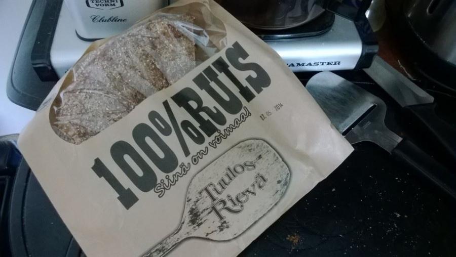 Tästä on muodostunut mun suosikki leipä. Tuulosrievän 100% Ruis. Siinä on voimaa Hämeestä.