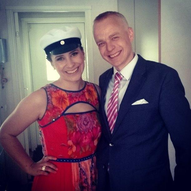 Ja tässä Janita Juvosen kanssa päivän yhteiskuva.