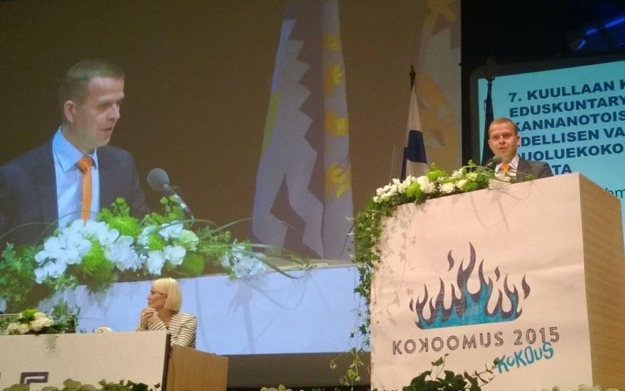 Ja hieno puhe myös eduskuntaryhmän puheenjohtajalta Petteri Orpolta.