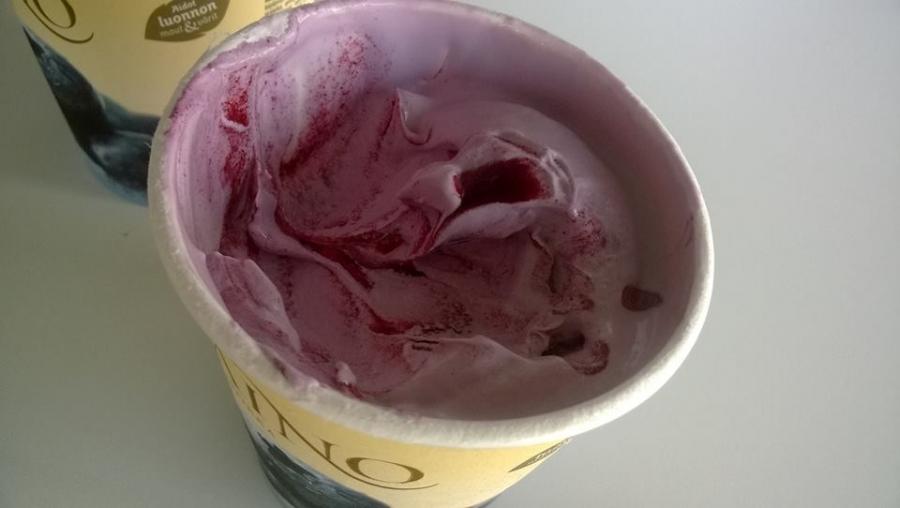 ... ja tämä jäätelö siis ammattilaisten mukaan juuri parhaimmillaan eli ennen viimeistä kovaa pakastamista.