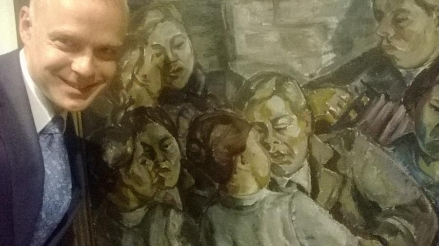 Ja kun Riihimäen Taidemuseossa pääsee käymään ja Tyko Sallisen upea näyttely niin olihan se Jytkyt taas ihasteltava.