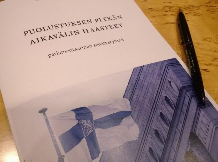 Ilkka Kanervan parlamentaarinen työryhmä julkaisi tänään raporttinsa puolustuksemme pitkän aikavälin haasteista. Allekirjoitan.