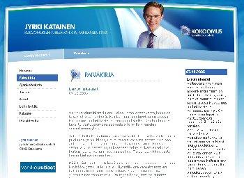 Puheenjohtajamme Jyrki Katainen kirjoittaa tänään kotisivuillaan http://www.jyrkikatainen.fi blogissaan tänään otsikolla Eero ukaasit. Katainen lupaa jatkaa verokeskustelua Heinäluoman kielloista huolimatta.