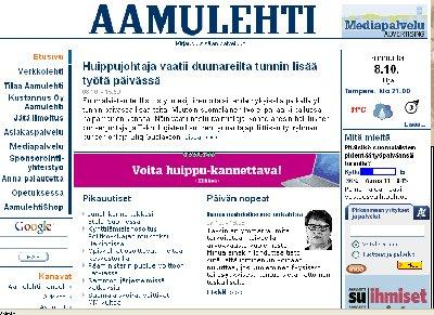 Sunnuntain Aamulehti lainasi osia täältä minun blogistani. En olisi uskonut, että yksi maamme päälehdistäkin seuraa blogiani.