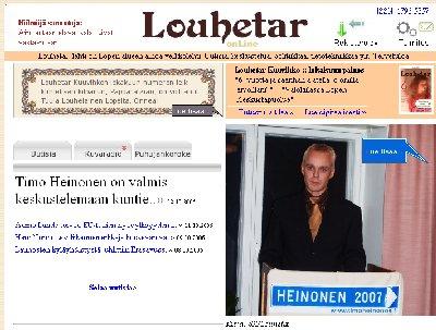 Louhetar -verkkolehti uutisoi näyttävästi Vaalistarttimme. Käykääpä kurkkaamassa www.louhetar.net