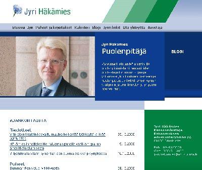Jyri Häkämies oli tänään vieraana YLE1 Lauantaiseurassa. Eduskuntaryhmän puheenjohtaja lupasi puolustaa yrittäjiä loppuun asti YT-lain uudistamisasiassa mikä nyt tulee eduskunnan käsittelyyn.