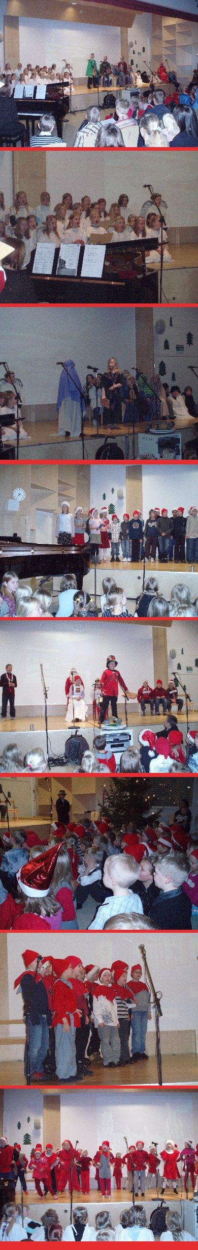 Monenmoista vilskettä tarjosi Kirkonkylän koulun joulujuhla.
