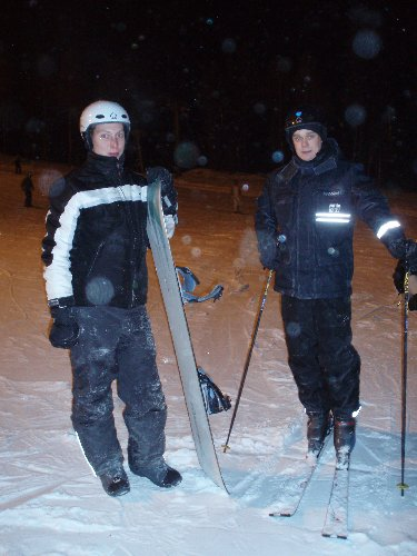 Matin kanssa Levin rinteillä 30.12.2006.