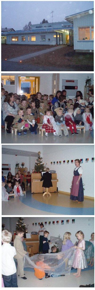 Läyliäisten uuden päiväkoti Pellavan vihkiäisissä riitti ohjelmaa. Päiväkodin jokainen eri ryhmä esiintyi, henkilökuntaankin kuuluva laulaja Kirsti Kurki esitti yksinlaulua Taina Sulkasen säestämänä ja Tanssikoulu Kuukernupin ihastuttavat ballerinaat esiintyivät juhlan lopuksi. Juhlapuheen piti kansanedustaja Päivä Räsänen.