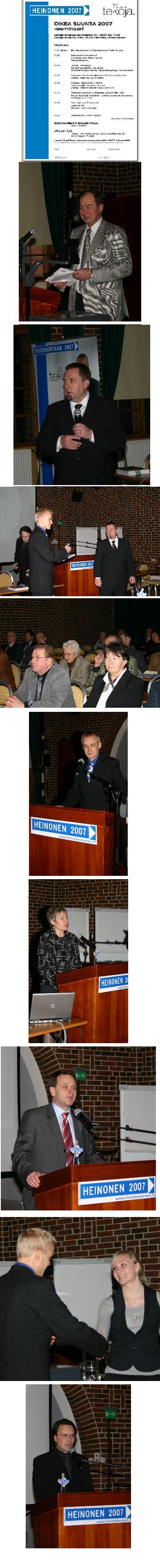 Kuvia Vanajanlinnan Oikea Suunta 2007 -seminaarista.