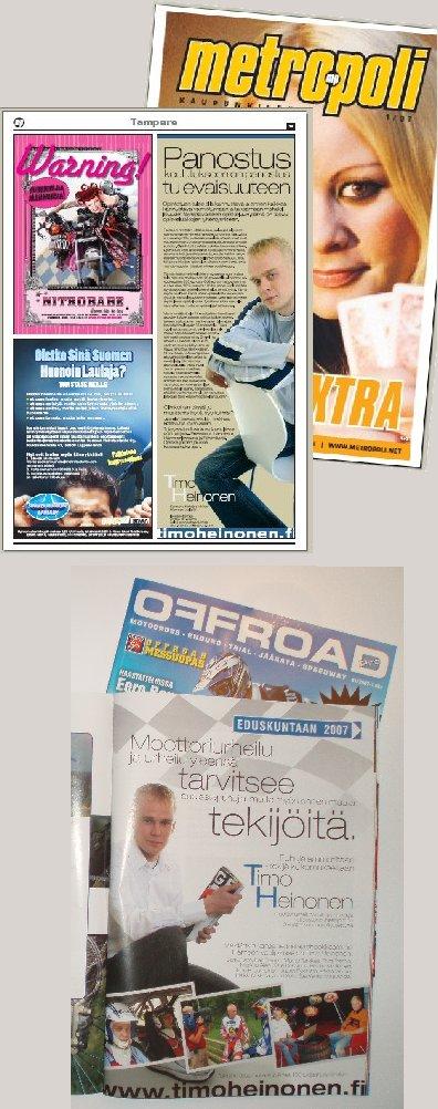 Tässä muutamia nyt jo erikoislehdissä olleita mainoksia.