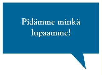 Kokoomus pitää sen minkä lupaa. Suomen Toivo Kokoomus. Lue lisää www.suomentoivo.fi