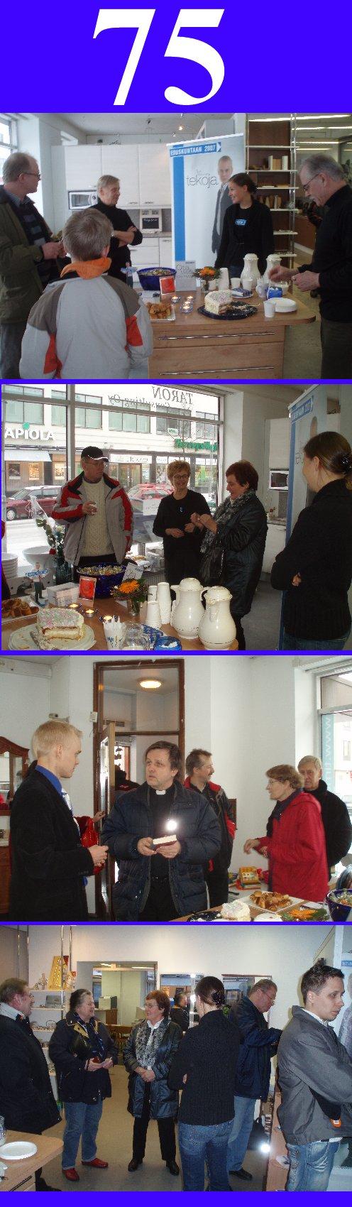 Eilinen 15.2. tarjoillut Numeron saanti -kahvit keräsivät Riihimäen vaalikahvilaan Hämeenkatu 38:aan pitkälti yli 50 kävijää.