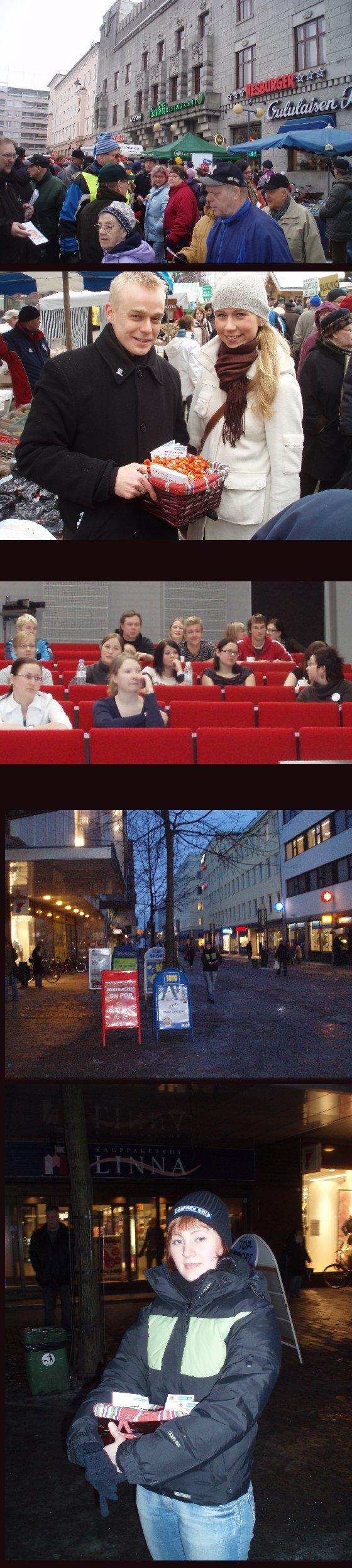 Kampanjan toiseksi viimeinen keskiviikko. Ensin aamulla Lahden torilla missä tapasin mm. vanhan ystäväni Helin. Sitten Hämeenlinnan OKL:n vaalipaneeli ja illalla vielä iltatempaus Hämeenlinnan Reskalla.