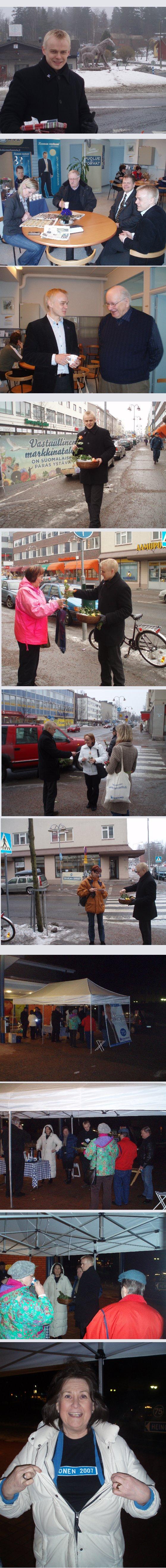 Naistenpäivän kiertueella kävimme Humppilassa, Ypäjällä, Forssassa, Riihimäellä ja Hausjärvellä.