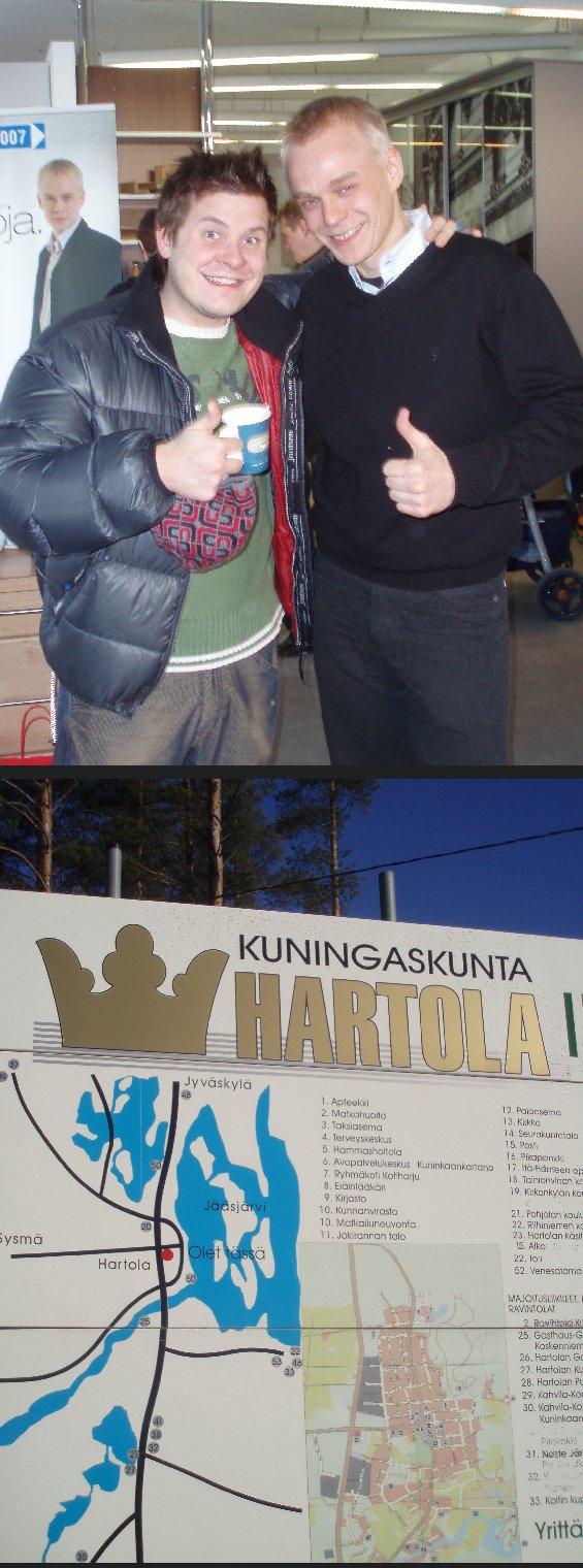 Tänään vaalikahvilassamme Riihimäellä poikkesi myös Idols Extran juontaja riihimäkeläinen Janne Kataja. Riihimäen lisäksi kampanjoi tänään Hartolassa, Sysmässä, Hämeenlinnassa ja vielä illan pimetessä uudestaan Riihimäellä.