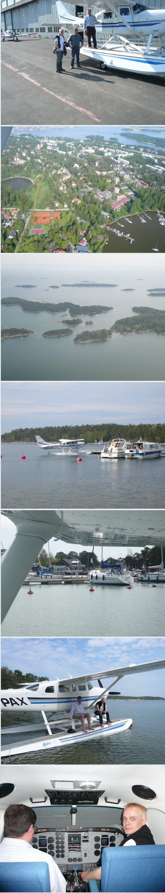 Ilmailupäivän kuvasatoa Suomen saaristosta. Taitaa tuossa ensimmäisessä kuvassa näkyä myös tuo tämän päivän turmakone aamulta. Alimmaisessa kuvassa uusin uutta eli lennonopetuksen simulaattori Malmin lentokentält