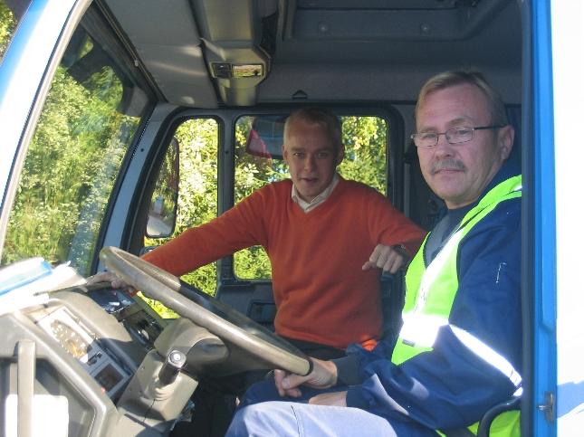 Tänä aamuna kyydin eduskuntaan tarjonnut kuljetusyrittäjä Jouni Mäkinen Oitista ja allekirjoittanut