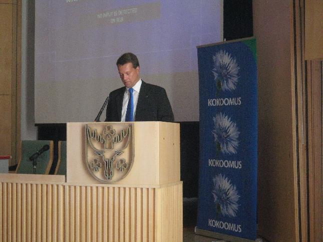Kollegani Jukka Mäkelä kävi tänään läpi alkanutta vaalikautta Mätsälän seminaarissa.
