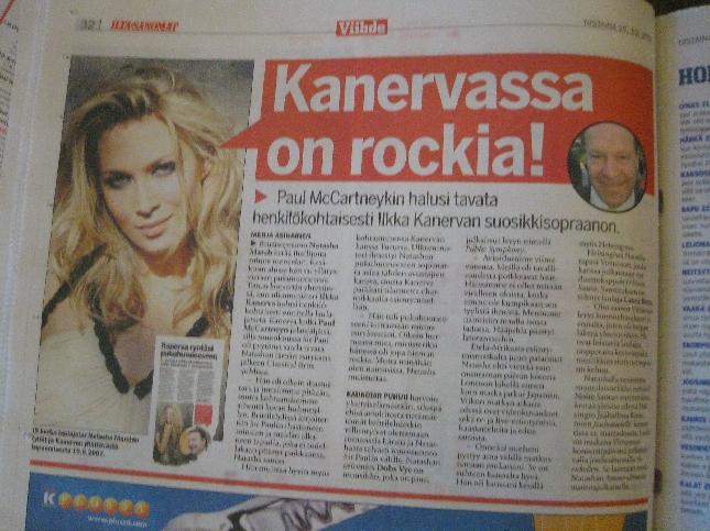 Niinpä... Eilinen Ilta-Sanomat kertoi Paul McCartney ja Ilkka Kanervan yhteiset musiikkimausta.