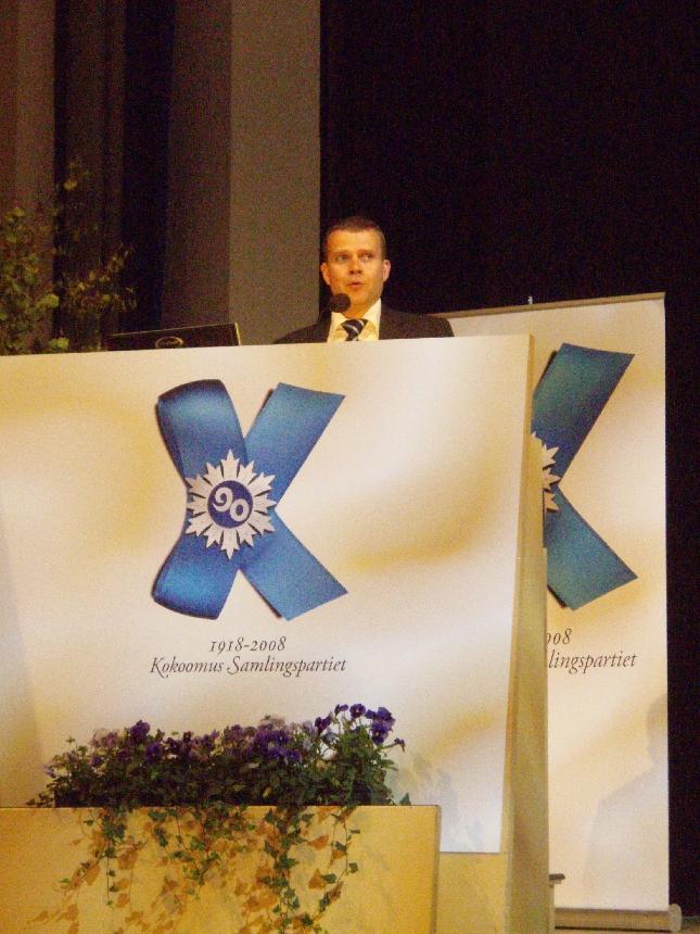 Puolueemme eduskuntaryhmän varapuheenjohtaja Petteri Orpo.