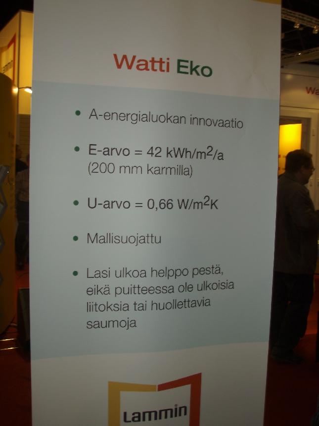 Ikkunan tekniset tiedot kertovat täyttä faktaa siitä, miten suuri uudistus tämä on. Vertailuksi tällä hetkellä parhaiden A-energialuokanikkunoiden E-arvo on noin 84.