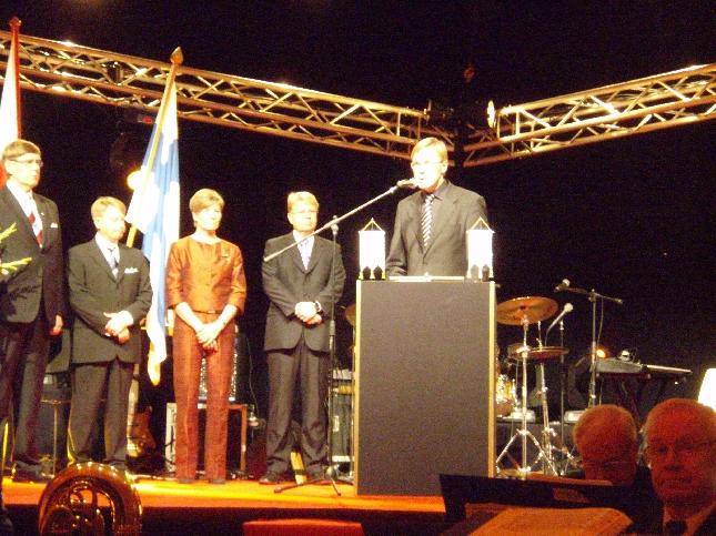 Pekka Vihman kiitospuhe oli tunteita herättävä. Upea kiitos henkilökunnalle ja perheelle ja lähimmille.