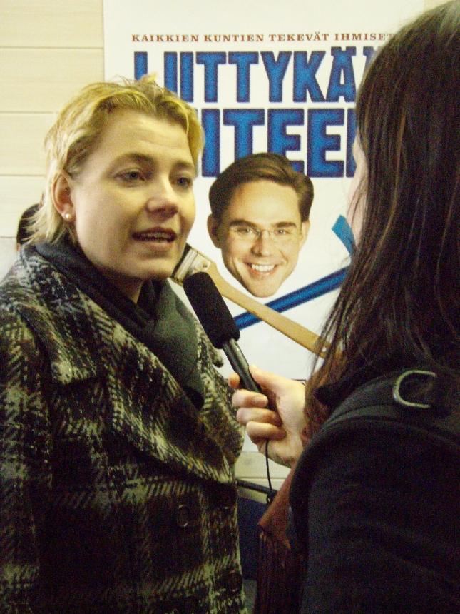Varapuheenjohtajamme Henna Virkkunen tv-haastattelussa.
