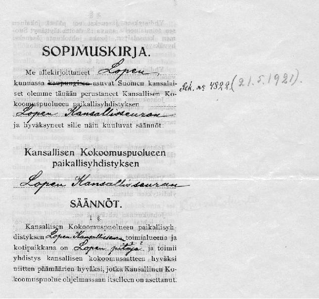 Lopen kokoomus täyttää 26.1. 90 vuotta. Juhlat Lopella 14.2.2009 Ystävänpäivänä. Lisää aiheesta http://www.lopenkokoomus.fi. Ilmoittaudu mukaan!