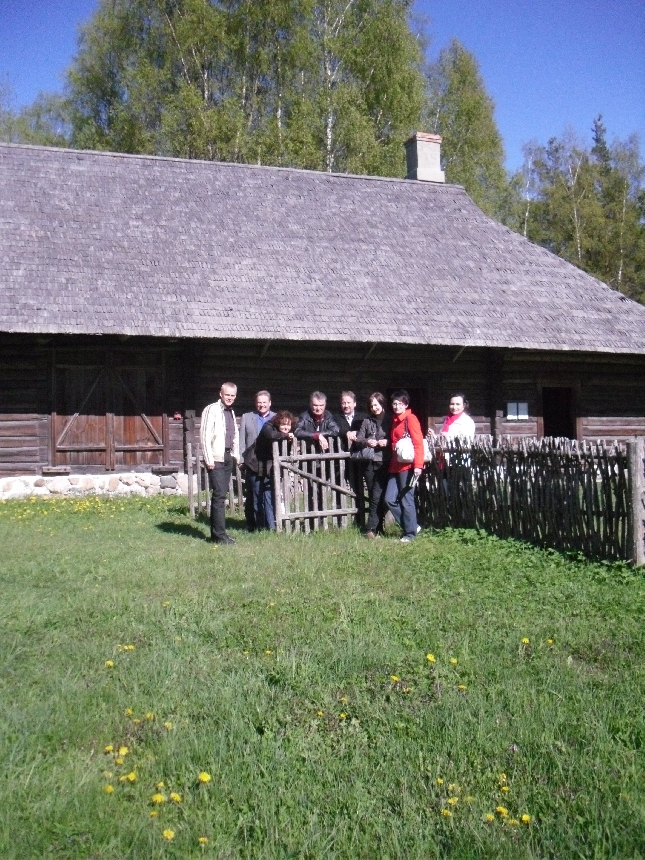 Ja tässä sitten Rusin talolla.