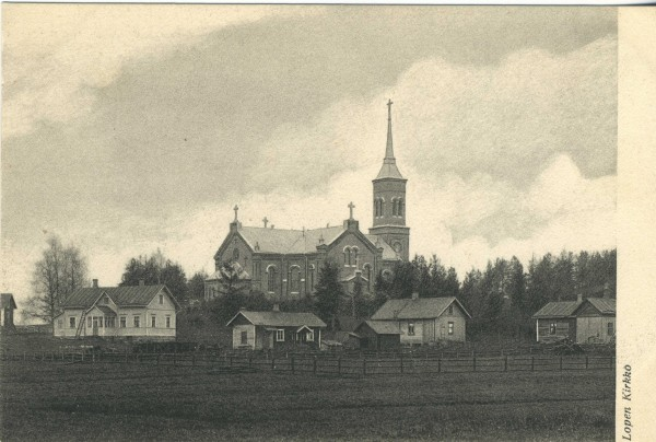 Muutamia kuvia... Tässä Lopen kirkko ennen tulipaloa. Pientä eroa siis ulkona ja myös...